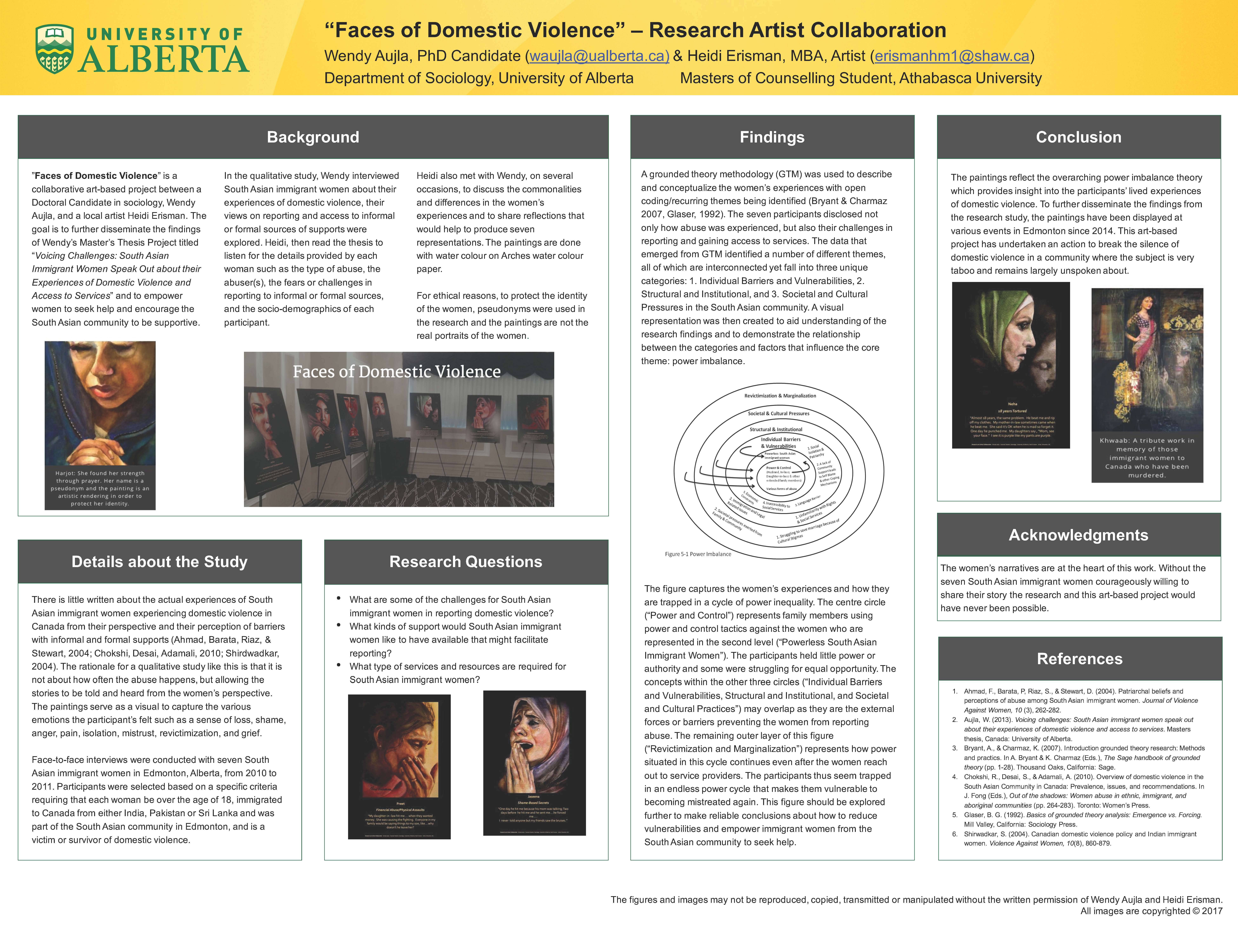 """Faces of Domestic Violence"" – Research Artist Collaboration Poster"