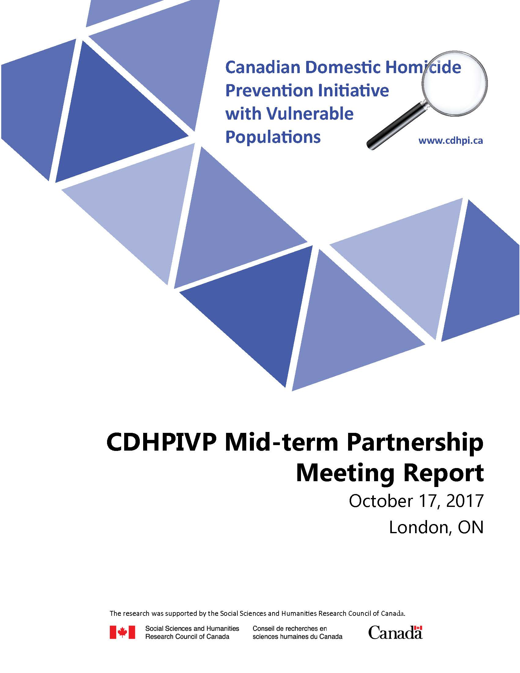 CDHPIVP Partnership Meeting Report cover page