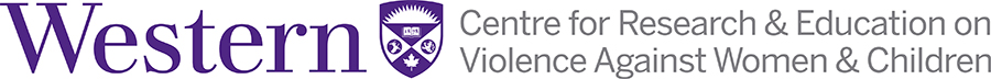 Western | Centre for Research & Education on Violence Agaisnt Women & Childrne Logo