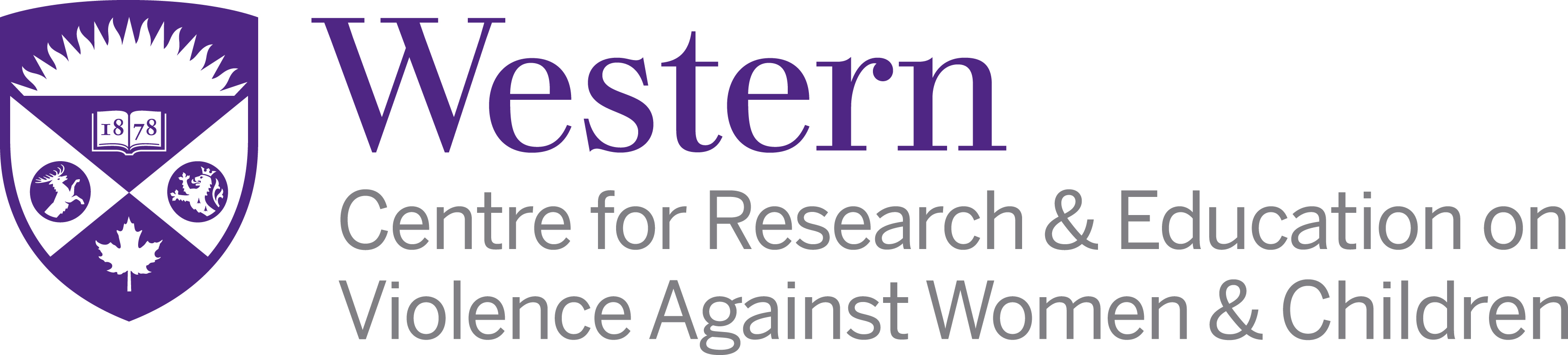 Centre for Research & Education on Violence Against Women & Children Logo