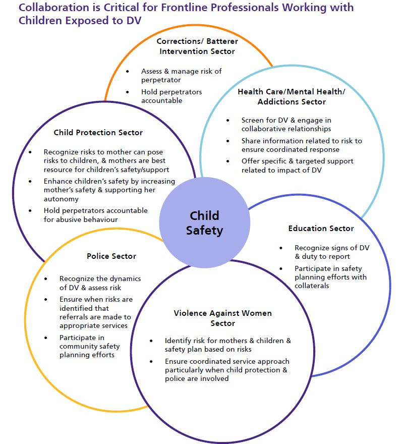 Collaboration is Critical for Frontline Professionals Working with Children Exposed to DV
