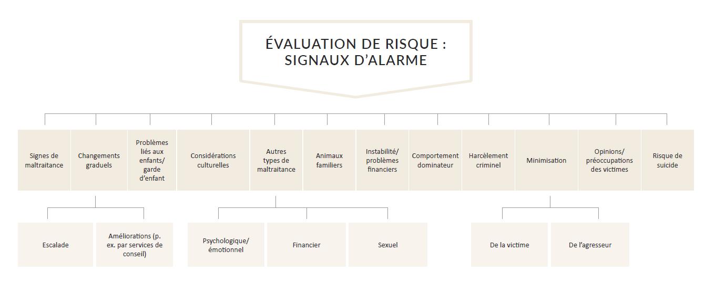Figure № 1. Autres aspects sur lesquels peuvent se pencher les travailleurs des services pendant une évaluation de risque