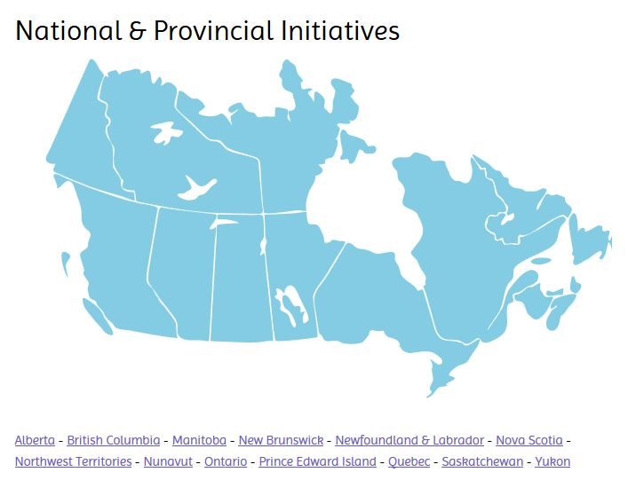 National and Provincial Intiatives Map